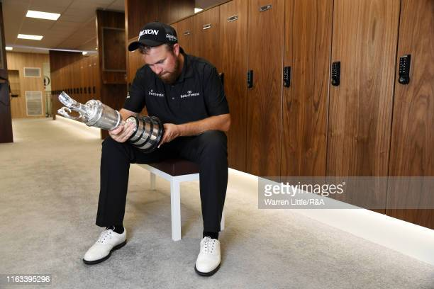 Shane Lowry of Ireland, Champion Golfer of The Year 2019 pose for a photo with the Claret Jug following his victory of the 148th Open Championship...