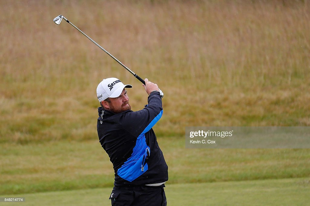 Shane Lowry of Ireland hits an approach during a pro-am round ahead of the AAM Scottish Open at Castle Stuart Golf Links on July 6, 2016 in Inverness, Scotland.