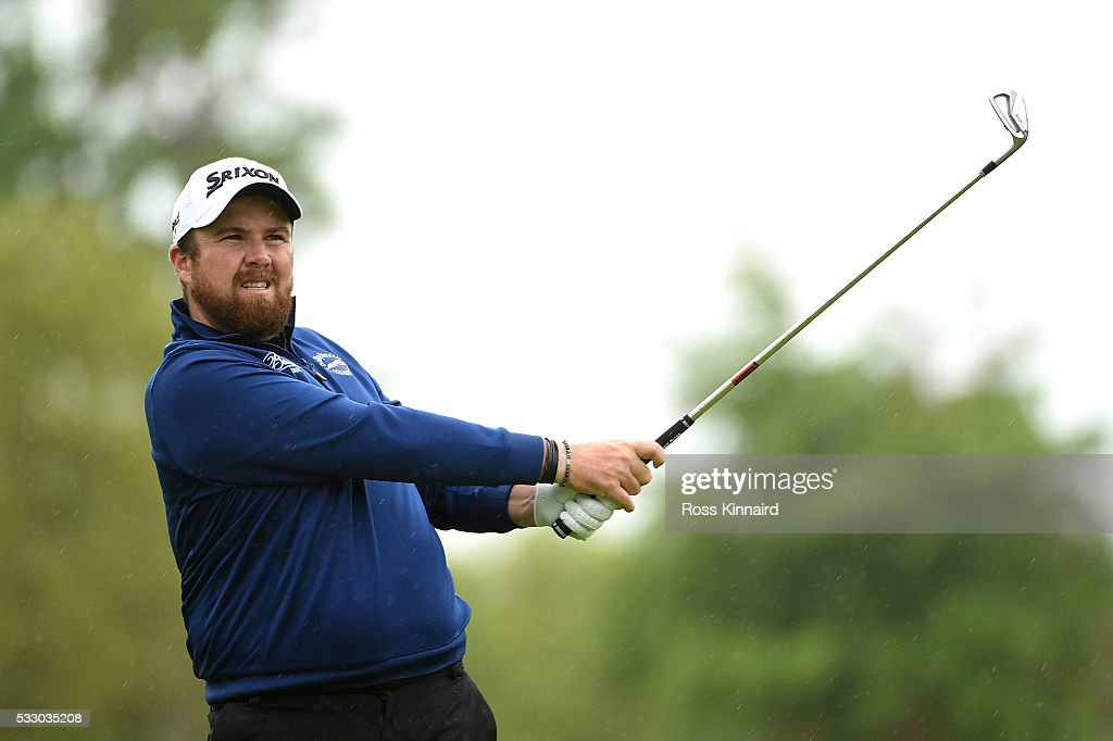 Shane Lowry of Ireland hits his 2nd shot on the 11th hole during the second round of the Dubai Duty Free Irish Open Hosted by the Rory Foundation at The K Club on May 20, 2016 in Straffan, Ireland.