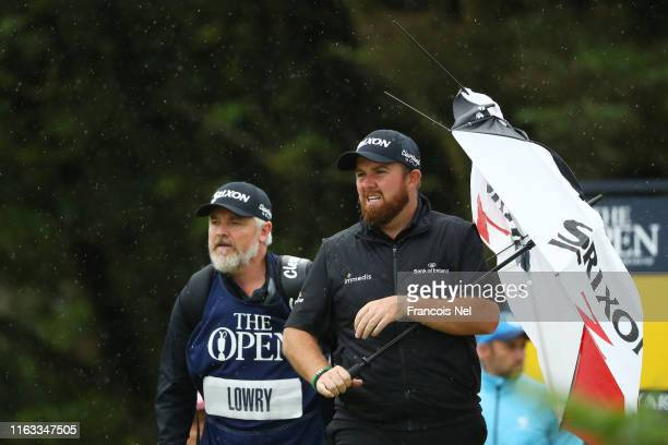 Shane Lowry of Ireland looks on during the final round of the 148th Open Championship held on the Dunluce Links at Royal Portrush Golf Club on July...