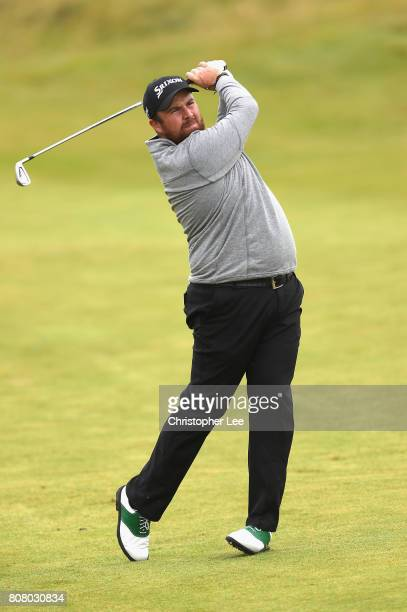 Shane Lowry of Ireland practices during the Dubai Duty Free Irish Open at Portstewart Golf Club on July 4 2017 in Londonderry Northern Ireland