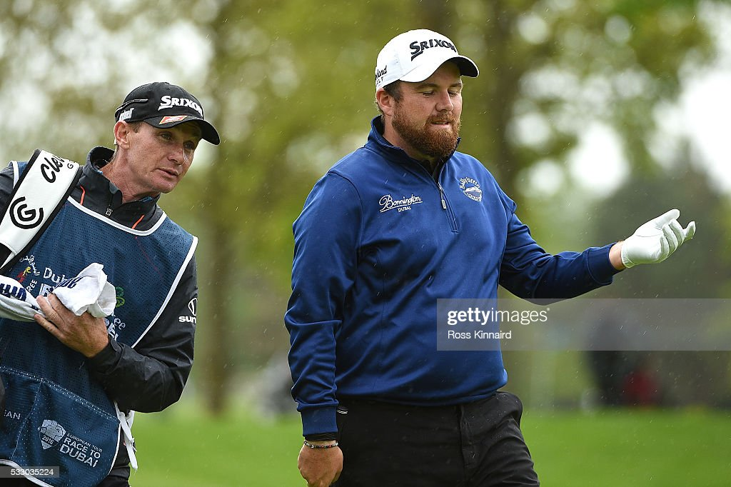 Shane Lowry of Ireland reacts to his 2nd shot on the 11th hole during the second round of the Dubai Duty Free Irish Open Hosted by the Rory Foundation at The K Club on May 20, 2016 in Straffan, Ireland.