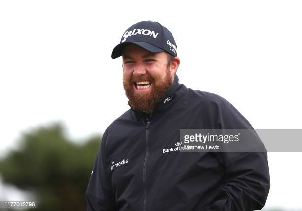 Shane Lowry of Ireland smiles during preview for the Alfred Dunhill Links Championship at Kingsbarns Golf Links on September 25, 2019 in St Andrews,...