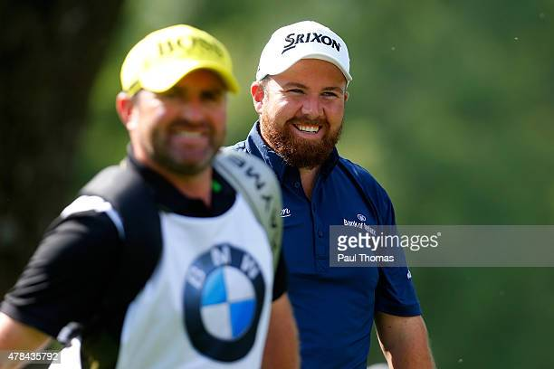 Shane Lowry of Ireland smiles during the BMW International Open day one at the Eichenried Golf Club on June 25 2015 in Munich Germany