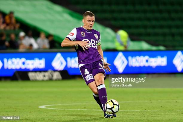 Shane Lowry of the Glory controls the ball during the round 11 ALeague match between the Perth Glory and the Wellington Phoenix at nib Stadium on...