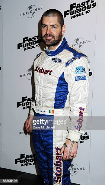 Shane Lynch arrives at the UK film premiere of 'Fast Furious 4' at the Vue Cinema Leicester Square on March 19 2009 in London England