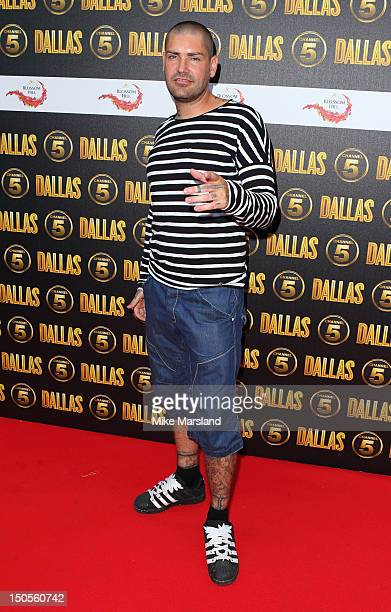 Shane Lynch attends party to celebrate the new Channel 5 television series of 'Dallas' at Old Billingsgate on August 21 2012 in London United Kingdom