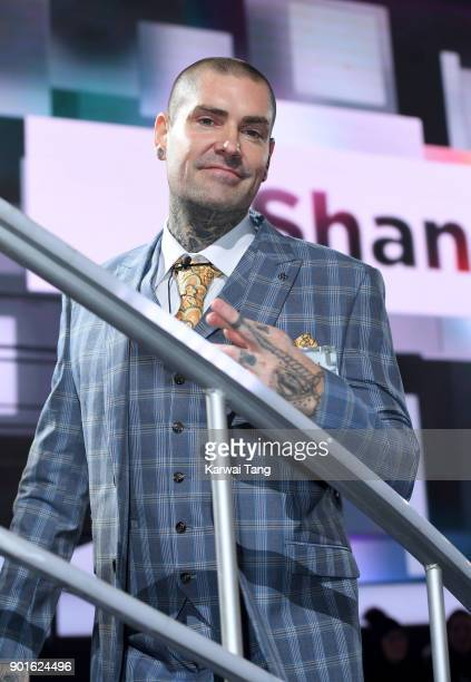 Shane Lynch enters the Celebrity Big Brother house at Elstree Studios on January 5 2018 in Borehamwood England