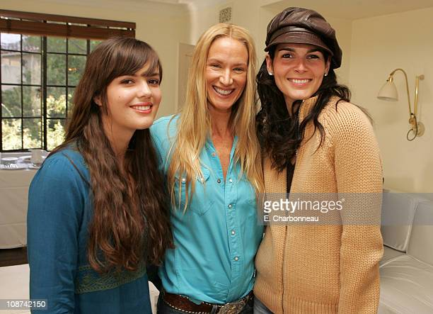 Shane Lynch, Kelly Lynch and Angie Harmon during Glamour Magazine Golden Globes Style Suite - Day 1 at Chateau Marmont in Hollywood, California,...