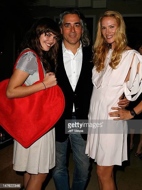 Shane Lynch Mitch Glazer and actress Kelly Lynch at the Conde Nast Pre Movies Rock Event at Sunset Tower on December 1 2007 in Los Angeles California
