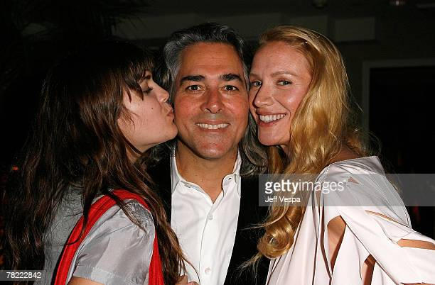 Shane Lynch Mitch Glazer and actress Kelly Lynch at the Conde Nast Pre Movies Rock Party at Sunset Tower on December 1 2007 in Los Angeles California