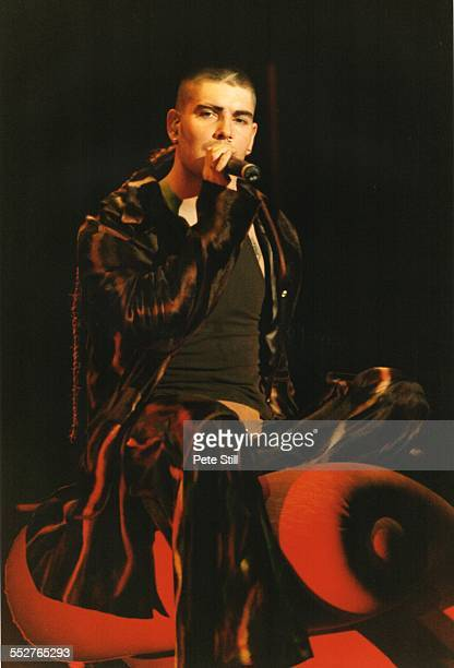 Shane Lynch of Boyzone performs on stage at the National Exhibition Centre on October 6th 1998 in Birmingham England