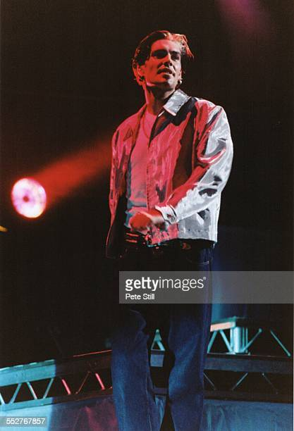 Shane Lynch of Boyzone performs on stage at the National Exhibition Centre on December 7th 1996 in Birmingham England