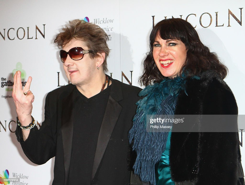 Shane MacGowan and Victoria Clarke attend the European premiere of 'Lincoln' on January 20, 2013 in Dublin, Ireland.