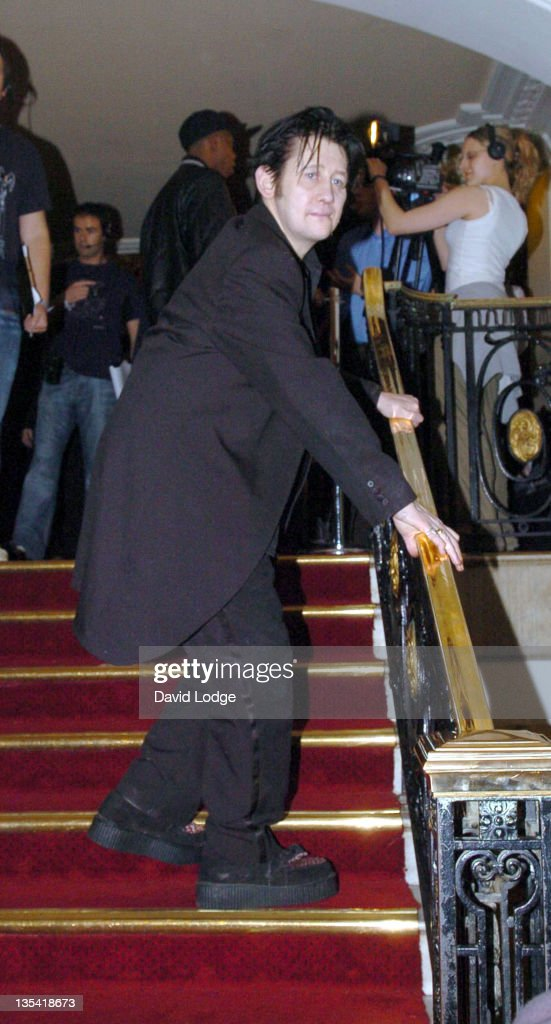 Shane MacGowan during 2005 Mojo Honours List Awards - Arrivals at Porchester Hall in London, Great Britain.