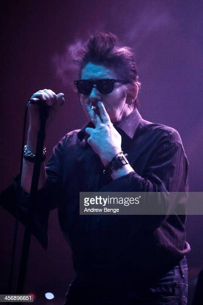Shane MacGowan of The Pogues performs on stage at Manchester Apollo on December 15 2013 in Manchester United Kingdom