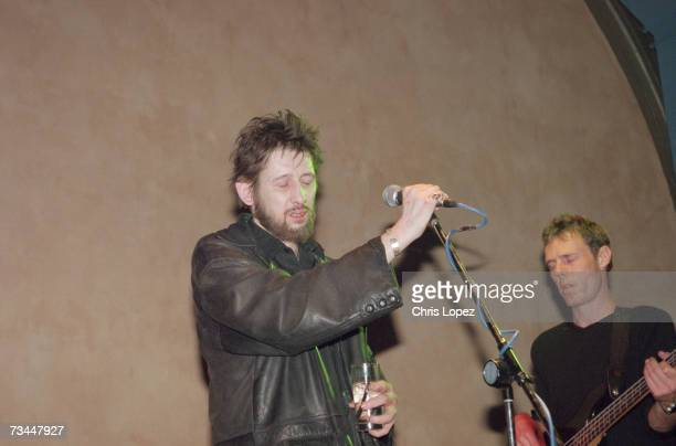 Shane MacGowan performing at the aftershow party for the screening of the Clash documentary 'Westway To The World' The Cobden Club London