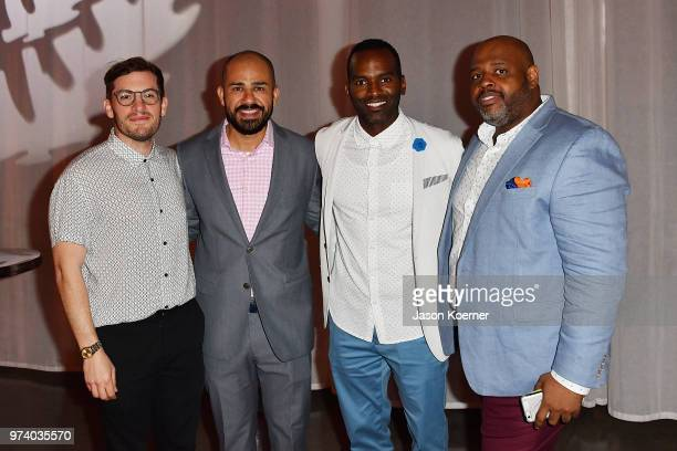 Shane Malach Jeff Meza Rahsan Rahsan Lindsay and Raymond Warren attend the Cadillac Welcome Luncheon At ABFF Black Hollywood Now The Temple House on...