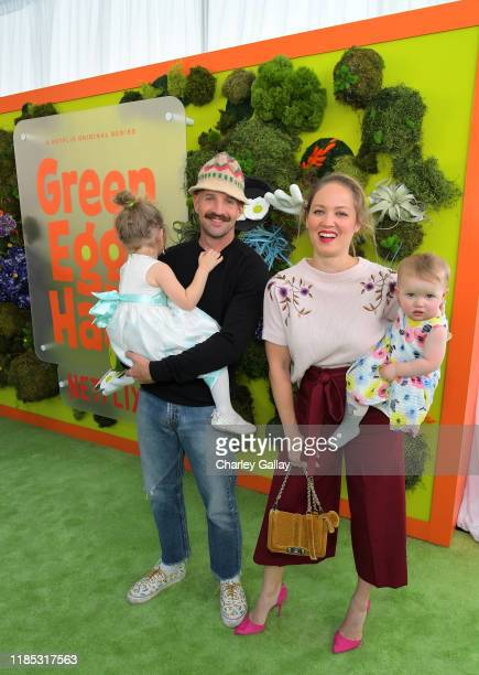Shane Maness Cole Maness Erika Christensen and Polly Maness attend Netflix 'Green Eggs Ham' Los Angeles Premiere at Post 43 on November 03 2019 in...