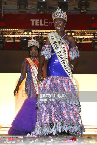 D'shane Matthew York winner of the Miss Senior 2019 and Anastatia Peters winner of Miss Mature 2019 on April 23 2019 at The St Maarten Festival...