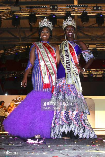 D'shane Matthew York winner of the Miss Senior 2019 pageant and Anastatia Peters winner of Miss Mature 2019 pageant at The St Maarten Festival...