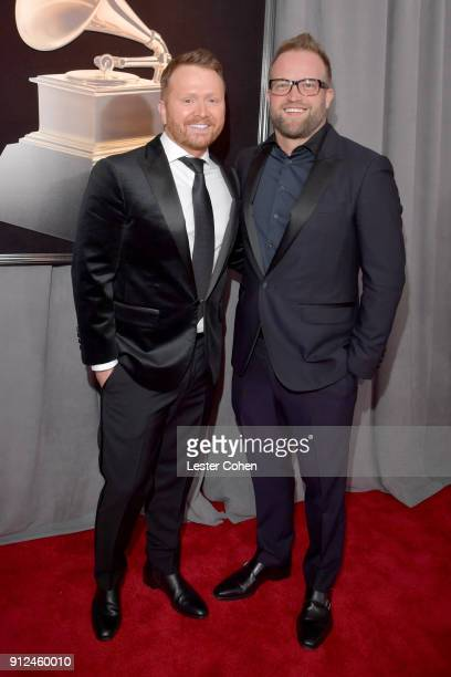 Shane McAnally and Michael Baum attend the 60th Annual GRAMMY Awards at Madison Square Garden on January 28 2018 in New York City