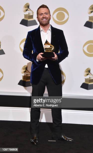 Shane McAnally, winners of the Best Country Song award for 'Space Cowboy,' poses in the press room during the 61st Annual GRAMMY Awards at Staples...