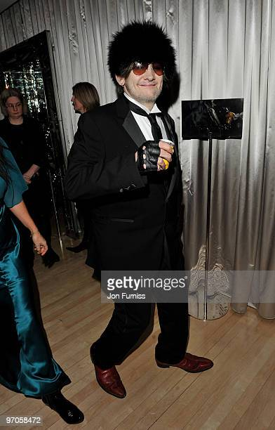 Shane McGowan attends the Tim Burton's 'Alice In Wonderland' afterparty at the Sanderson Hotel on February 25 2010 in London England