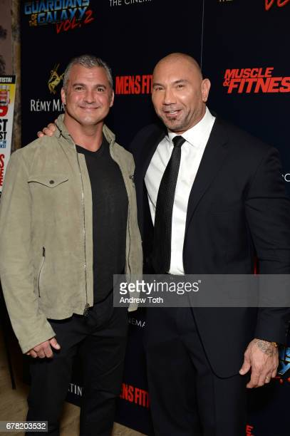 Shane McMahon and Dave Bautista attend a screening of Marvel Studios' Guardians of the Galaxy Vol 2 hosted by The Cinema Society at the Whitby Hotel...