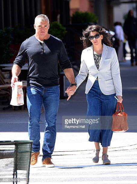 Shane McMahon and Marissa McMahon are seen walking in Soho on June 9 2016 in New York City