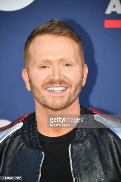 Shane McNally songwriter of the year arrives for the 54th Academy of Country Music Awards on April 7 2019 in Las Vegas Nevada
