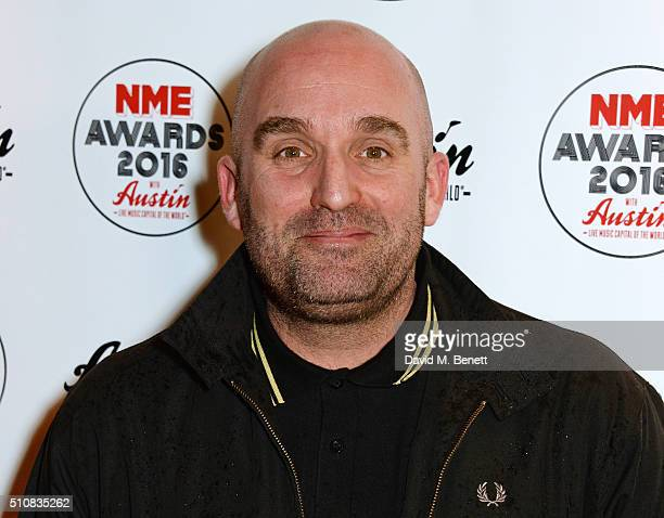 Shane Meadows attends the NME Awards with Austin Texas at the O2 Academy Brixton on February 17 2016 in London England