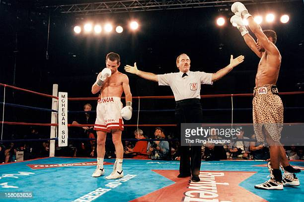 Shane Mosley celebrates winning the fight against Philip Holiday at Mohegan Sun Casino on August 21997 in Uncasville Connecticut Shane Mosley won the...
