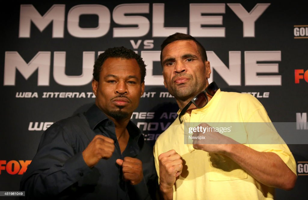 Anthony Mundine And Shane Mosley At Press Conference Ahead Of Fight