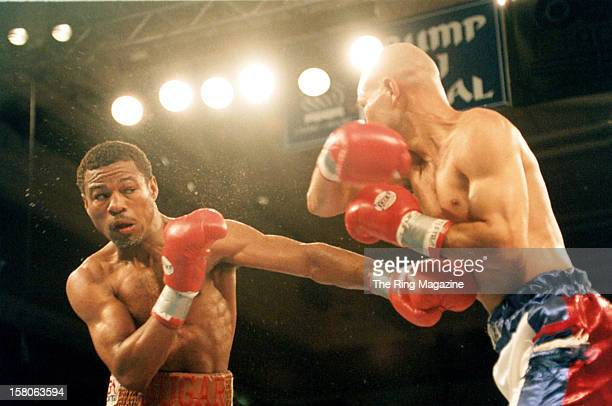 Shane Mosley throws a left punch against John John Molina during the fight at the Trump Taj Mahal, on May 9,1998 in Atlantic City, New Jersey. Shane...