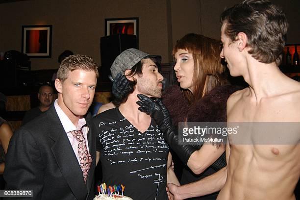 Shane O'Neill Van Scott Sophia Lamar and Ian Dunne attend MONDAY'S HARD Birthday Party For DJ VAN SCOTT at The PLUMM on March 19 2007 in New York City