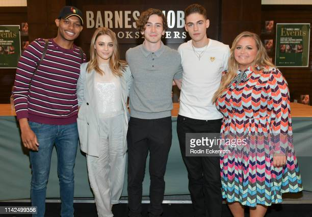 Shane Paul McGhie Josephine Langford Dylan Arnold Hero FiennesTiffin and Anna Todd signs and discusses her book and movie tie in for After at Barnes...