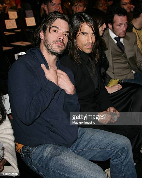 Shane Powers and Anthony Kiedis during MercedesBenz Fall 2006 LA Fashion Week at Smashbox Studios Louis Verdad Front Row and Backstage at Smashbox...