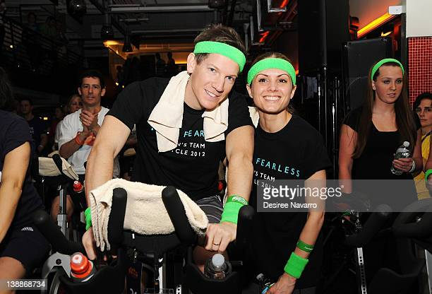 Shane Rahmani and Jaclyn Grayson attend 2012 Cycle For Survival Day 2 at Equinox Graybar on February 12 2012 in New York City