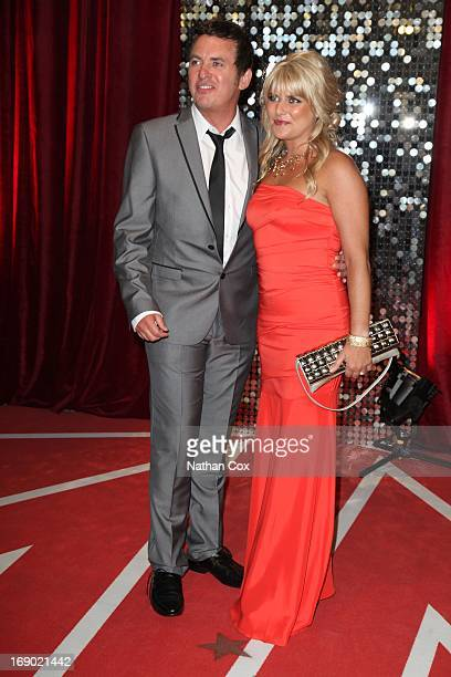 Shane Richie and Christie Goddard arrive at the British Soap Awards 2013 Red Carpet arrivals at Media City on May 18 2013 in Manchester England