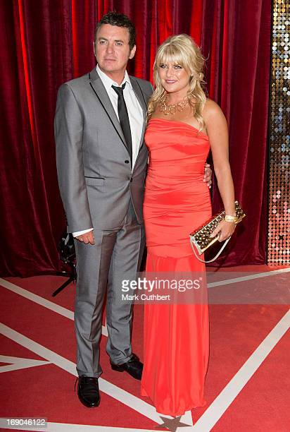 Shane Richie and Christie Goddard attend the British Soap Awards at Media City on May 18 2013 in Manchester England