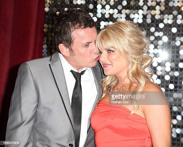 Shane Richie and Christie Goddard attends The British Soap Awards 2013 at Media City on May 18 2013 in Manchester England