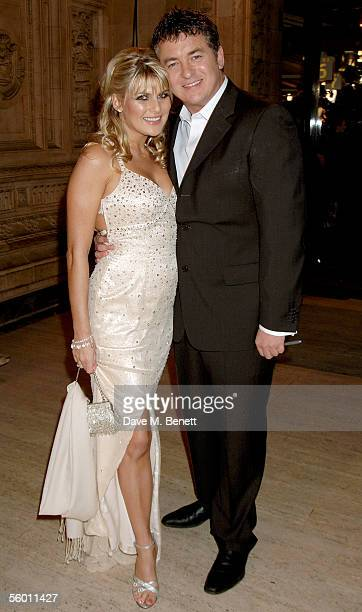 Shane Richie and his partner Christie Goddard arrive at the National Television Awards 2005 at the Royal Albert Hall on October 25 2005 in London...