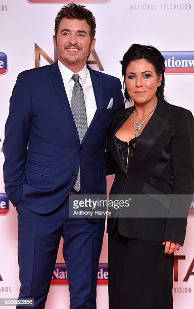 Shane Richie and Jessie Wallace at the 21st National Television Awards at The O2 Arena on January 20 2016 in London England
