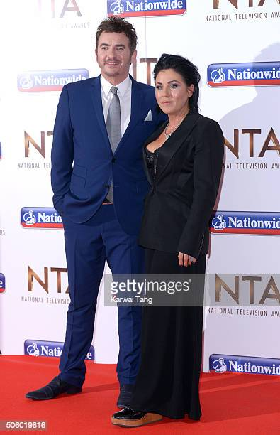 Shane Richie and Jessie Wallace attend the 21st National Television Awards at The O2 Arena on January 20 2016 in London England
