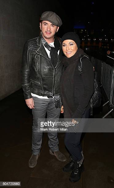 Shane Richie and Jessie Wallace leaving the BBC Broadcasting House after appearing on the One show on January 12 2016 in London England