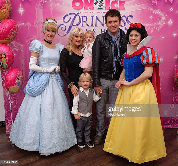 Shane Richie Christie Goddard Lolita and Mockenzie attends the VIP Launch of 'Disney On Ice Presents Princess Wishes' on October 28 2009 in London...