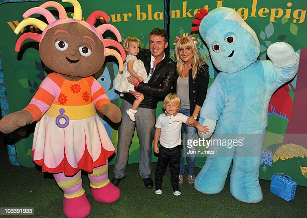 Shane Richie with daughter Lolita Bell and Mackenzie Blue and wife Christie Goddard attends In The Night GardenLive at the O2 on August 15 2010 in...