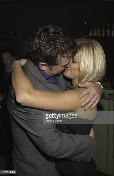 Shane Ritchie and girlfriend Christie Goddard attend the Shane Ritchie Book Launch Party at Noble Rot Restaurant and club on November 18 2003 in...