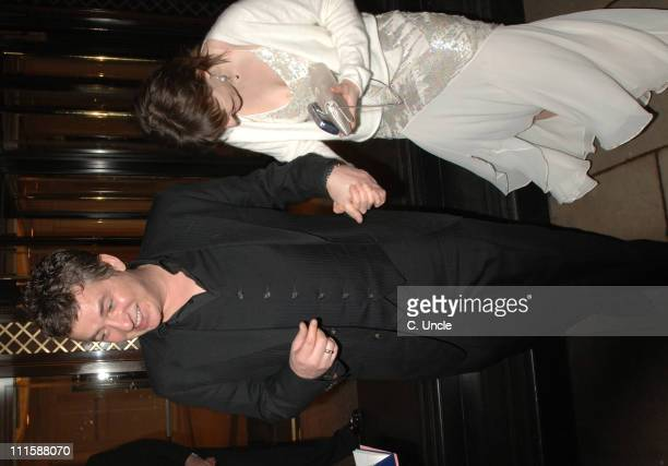 Shane Ritchie and Kacey Ainsworth during 2006 Royal Television Society Programme Awards Departures in London Great Britain